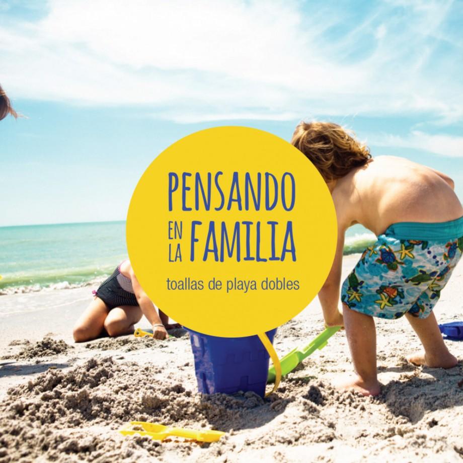 TOALLAS DE PLAYA DOBLES , PENSANDO EN LA FAMILIA…